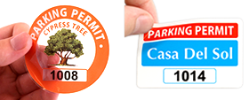 Custom Parking Permit Stickers & Decals