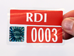 Holographic Parking Permit Decals
