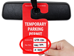 Stock Parking Tags