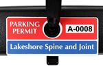 Horizontal Parking Hang Tag