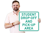 School Pick-Up Signs