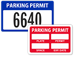 Parking Permit Window Decals