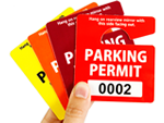 Stock Parking Permit Hang Tags
