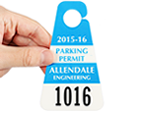 Triangle Custom Parking Permit Hang Tags
