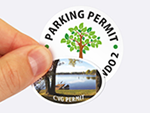 Oval Parking Stickers