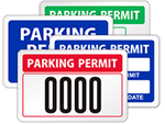 Window Decal Parking Permit