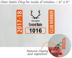 Clear static cling parking permits