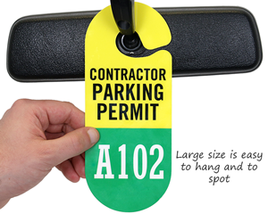 Contractor Parking Permit Passes