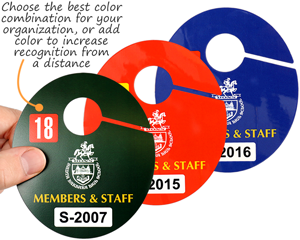 Multi Color Oval Parking Permit Hang Tags
