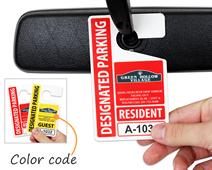 Custom parking hang tags