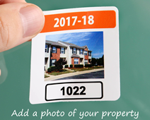 Custom parking permits with a photo