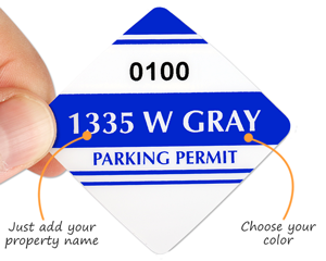 Custom parking permit sticker