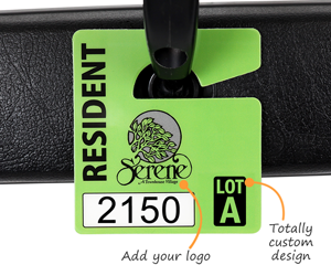 Full color mini parking permits