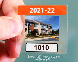 Full color parking permit stickers