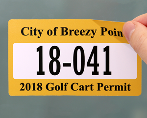 Golf cart permit