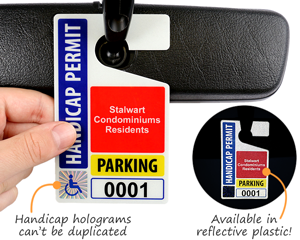 Handicap parking hang tags