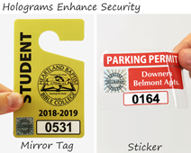 Holograms enhance the security of your parking permits