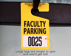 In Stock Student Faculty Parking Permits