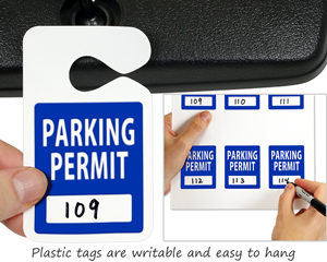 Make your own parking permits