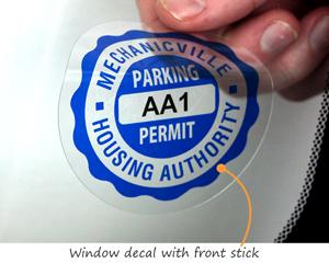 Neighborhood parking permit sticker