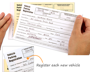 Parking permit registration form