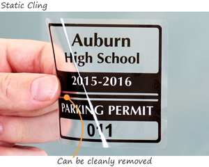 static cling parking permit decal