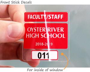 parking permit sticker for window