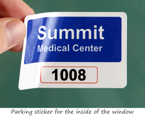 Parking permit for a medical clinic
