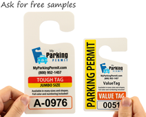 Ask for free samples of each parking tag material