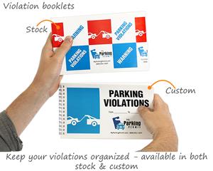 Parking violation book