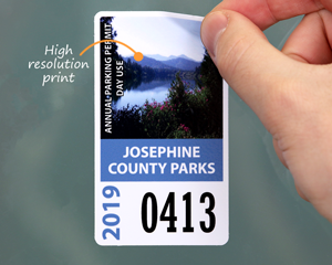 Photo parking permit sticker