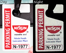 Reflective parking tags
