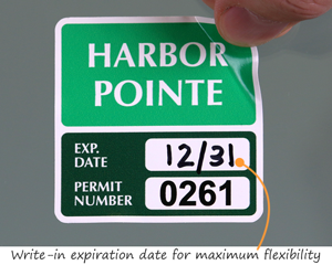 Residential parking permits with expiration date