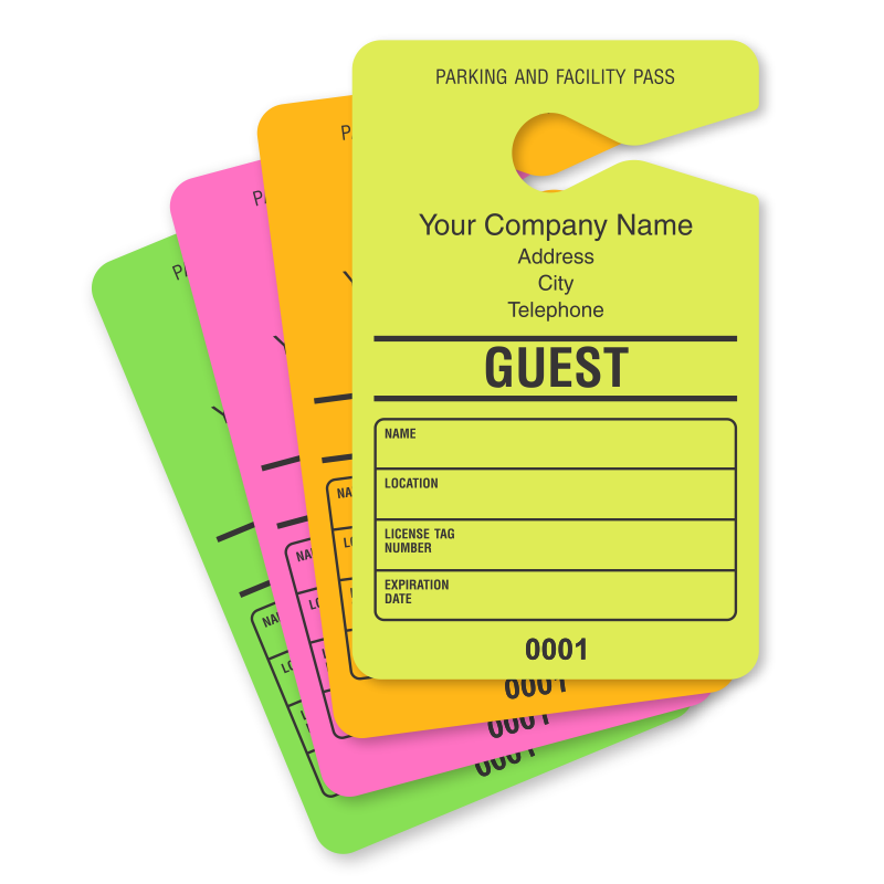 hanging parking permit template free - guest parking passes customize online