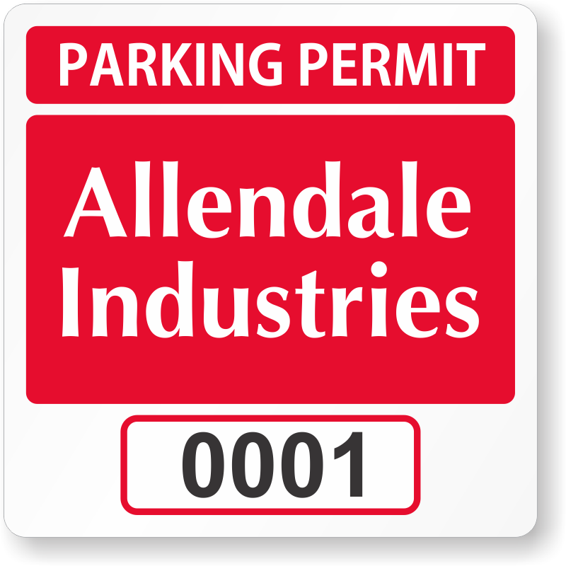 Reserve-a-Spot™ Parking Permits | Free Shipping ...