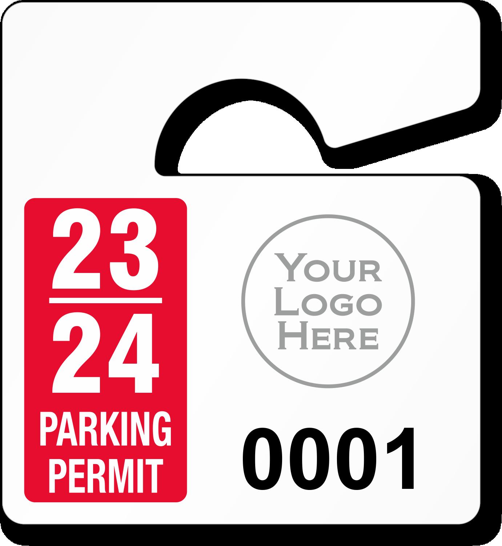 mini parking permit mirror tags. Black Bedroom Furniture Sets. Home Design Ideas