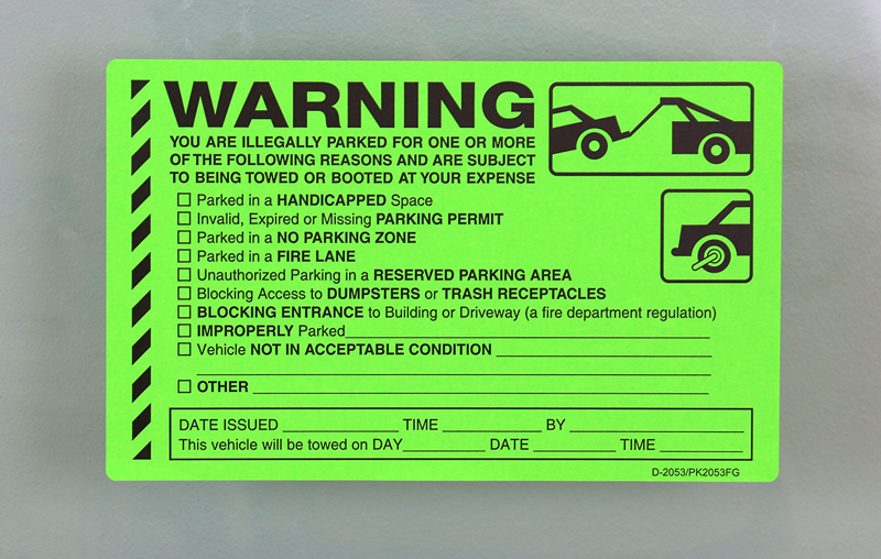 What To Used To Put Parking Permit On Car