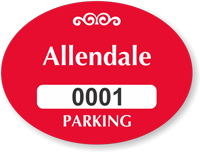 Custom Parking Permit Mirror Decal