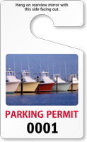 Sequentially Numbered PhotoTag Parking Permit