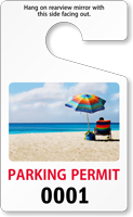 Standard Size PhotoTag Parking Permit
