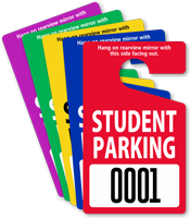 ToughTag™ Standard Sized Rearview Mirror Parking Passes