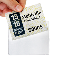 Horizontal Vinyl Parking Permit Holders for Inside Window