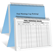 Large Parking Violation Final Warnings Issued Log Book
