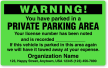 Custom You Are Illegally Parked Warning Label