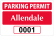 Parking Labels - Design LT2