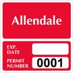 Parking Labels - Design SQ10