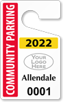 Plastic ToughTags™ for Community Parking Permits