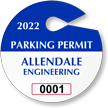 Create Own Circle Parking Permit Hang Tag