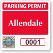 Customizable Tamper-Evident Hologram Parking Permit Decals