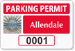Create Tamper-Evident SecuraPass Hologram Parking Permit Decals